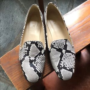 Snake embossed Leather Loafers 8.5